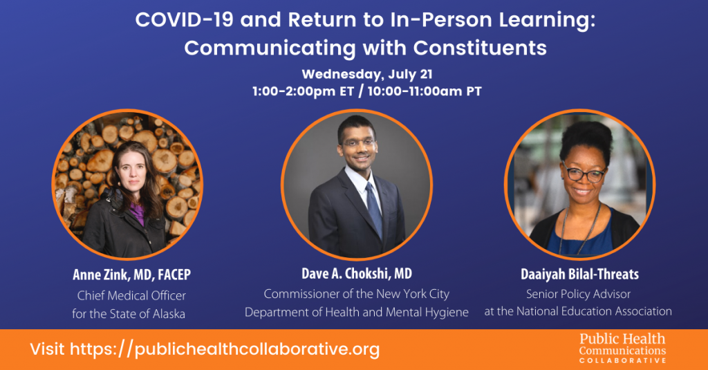 Webinar: COVID-19 and Return to In-Person Learning: Communicating with Constituents