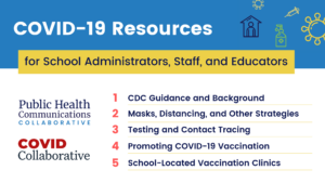 COVID-19 Resources for School Administrators, Staff, and Educators