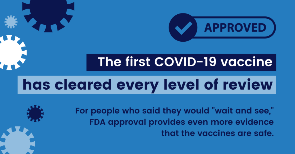 The first COVID vaccine has cleared every level of review
